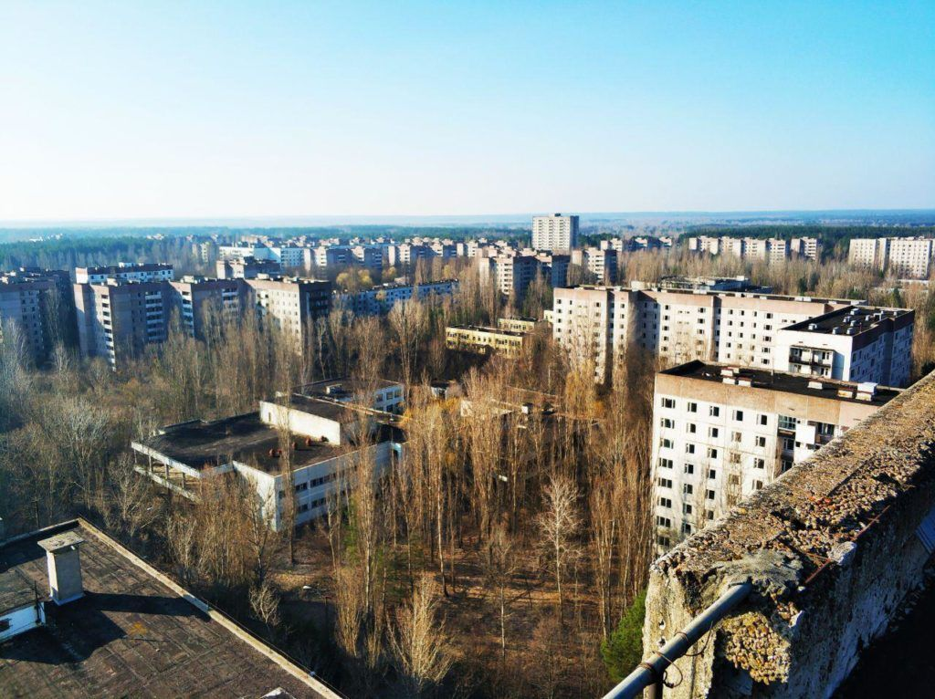Expedition to the Chernobyl Exclusion Zone to collect data for the analysis