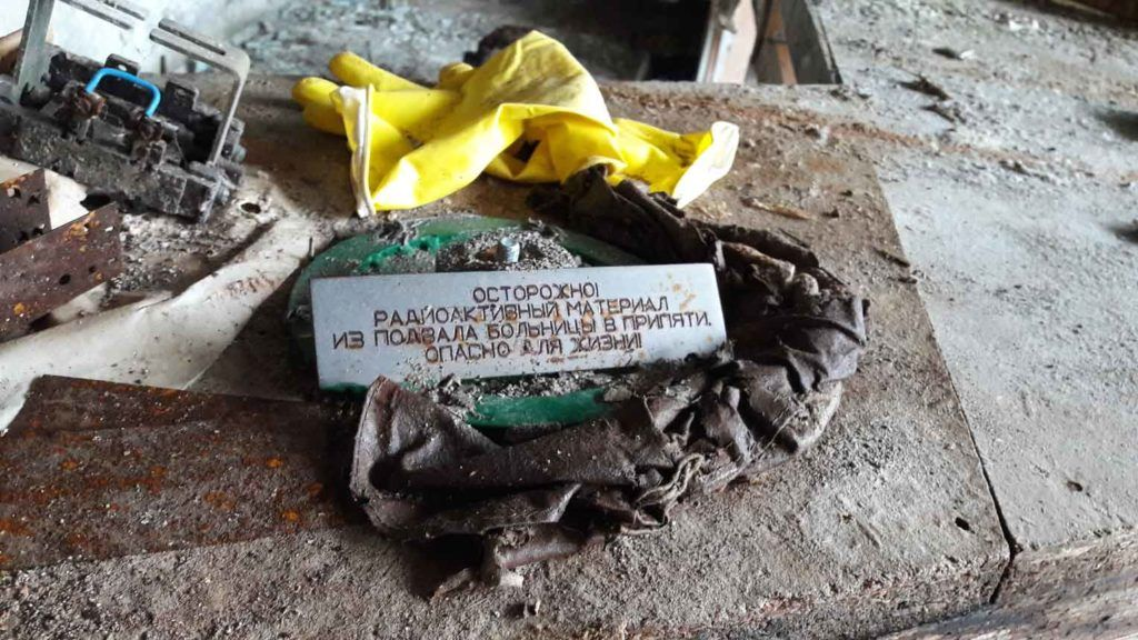 Radioactive material from the hospital basement in Pripyat